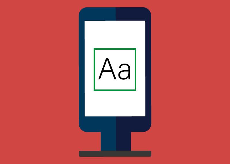 集客効果アップ!デジタルサイネージの文字サイズとは?