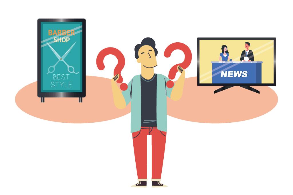 デジタルサイネージとテレビの違いとはどのようなものなの?