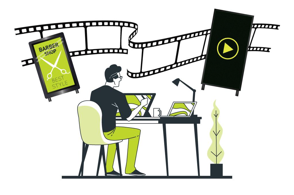 デジタルサイネージで流す動画の作り方とポイントをご紹介!