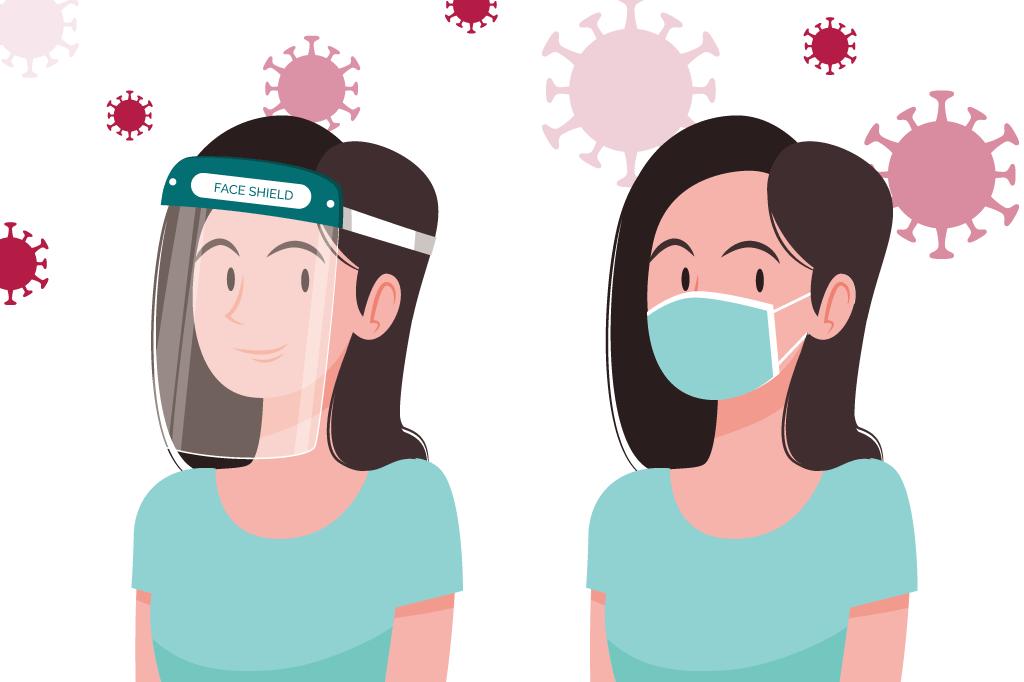 コロナ対策でマスクをつけている方必見!フェイスシールドとの違いをご存知ですか?
