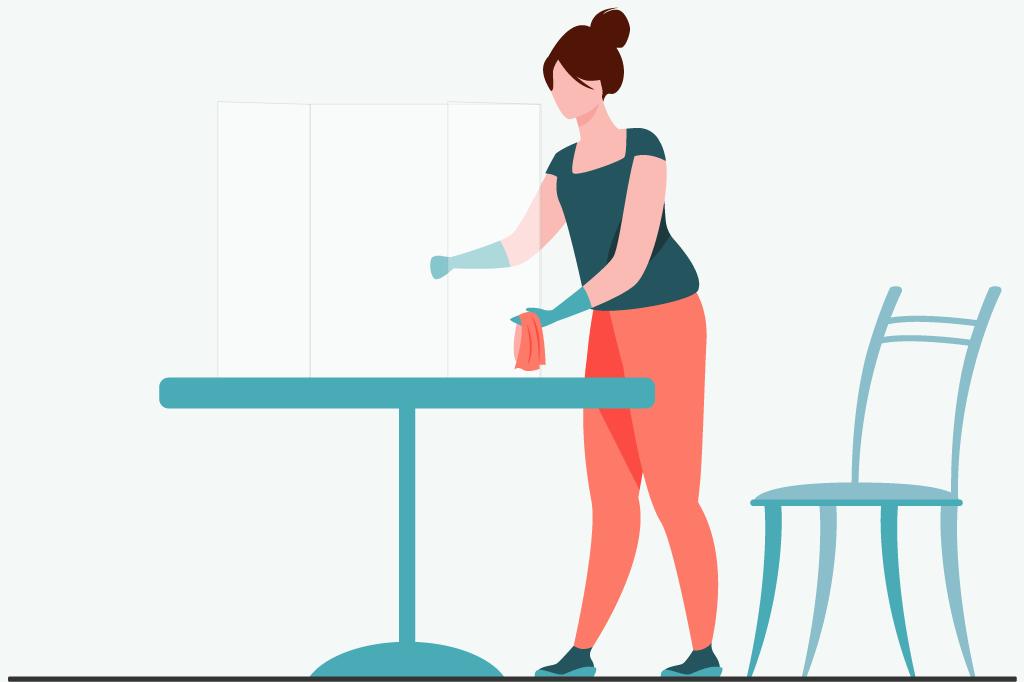 パーテーションのお手入れ方法とは?掃除の仕方をご紹介します!